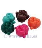 BUDA CORAL SINTÉTICO 14,5x12x12 mm 3 UNIDADES : color:Mix