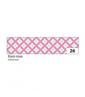 WASHI TAPE FOLIA CUADROS ROSA 15 MM x 10 METROS