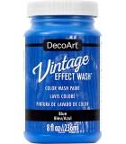 DECOART VINTAGE WASH PINTURA EFECTO LAVADO 236 ML : DECOART VINTAGE WASH:DCW13 AZUL