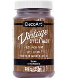 DECOART VINTAGE WASH PINTURA EFECTO LAVADO 236 ML : DECOART VINTAGE WASH:DCW17 MARRÓN
