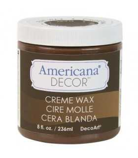 AMERICANA DECOR CERA EN CREMA MARRÓN OSCURO 236 ML