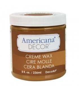 AMERICANA DECOR CERA EN CREMA MARRÓN DORADO 236 ML