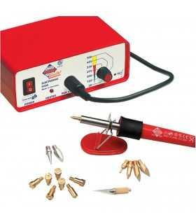 Pirógrafo 20 W con termostato, 14 puntas y soporte