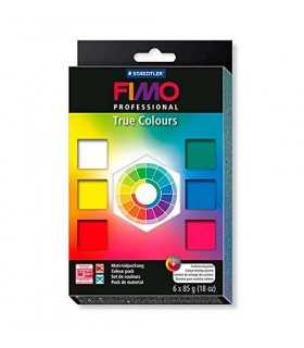 SURTIDO FIMO PROFESSIONAL TRUE COLORS 6 x 85 GR