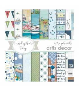 PAPEL SCRAP ARTIS DECOR CANDY BAR BOY 17 HOJAS