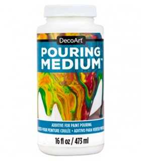 POURING MEDIUM DECOART PARA PINTURA FLUIDA 473 ML.