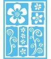 PLANTILLA ADHESIVA DECOART FLORES FUNKY 15x20 CM