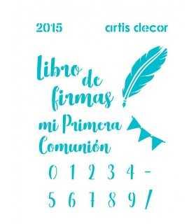 PLANTILLA STENCIL ARTIS DECOR 15x20 COMUNIÓN