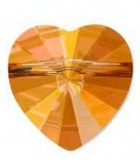 CUENTA CORAZÓN 5742 SWAROVSKI 14 MM 2 UNIDADES : color:Crystal Copper