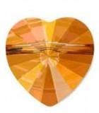 CUENTA CORAZÓN 5742 SWAROVSKI 8 MM 5 UNIDADES : color:Crystal Copper