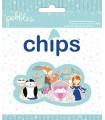 CHIPS EPHEMERA IMPRESOS INVIERNO PEBBLES 44 UD