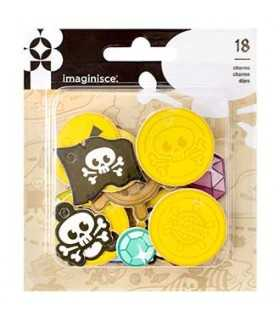 SET 18 CHARMS FOAM PIRATA PAR/R/RTY ME HEARRTY