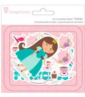 SET 12 DIE/CUTS IMAGINISCE LITTLE PRINCESS