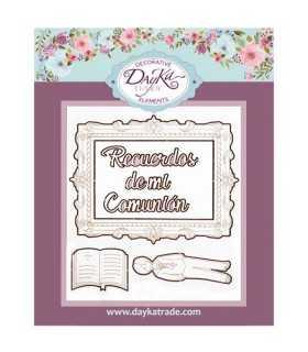 SILUETAS CARTÓN NIÑO COMUNIÓN BIBLIA