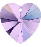 CORAZÓN CRISTAL SWAROVSKI 6228 DE 10 MM. EFECTO AB : Unidades:Envase 5 Unidades, color:Violeta
