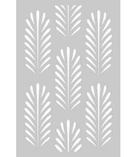PLANTILLA STENCIL DEEP GREEN FONDO 10x15 CM