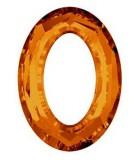 COSMIC OVAL SWAROVSKI 15x11 MM 1 UNIDAD : color:Crystal Copper