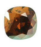 CABUCHÓN DE CRISTAL SWAROVSKI CUADRADO DE 12 MM : Unidades:1 unidad, color:Crystal Copper