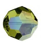 BOLA CRISTAL SWAROVSKI 8 MM EFECTO AURORA BOREAL : Unidades:Envase 5 Unidades, color:Olivine