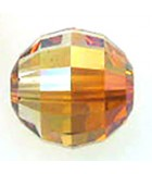 BOLA CHESSBOARD SWAROVSKI 12 MM 1 UNIDAD : color:Crystal Copper