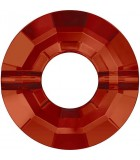 RING BEAD SWAROVSKI 12,5 MM AG. 1 MM 1 UD : color:Crystal Red Magma