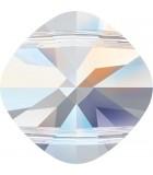 CUADRADO 2 AGUJEROS SWAROVSKI 14 MM 1 UNIDAD : color:Cristal AB