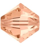 TUPI DE CRISTAL SWAROVSKI COLORES 5 mm 25 UNIDADES : color:Light Peach
