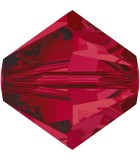 TUPI DE CRISTAL SWAROVSKI COLORES 5 mm 25 UNIDADES : color:Ruby
