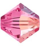 TUPI CRISTAL SWAROVSKI COLORES AB 5 mm 25 UNIDADES : color:Rosa