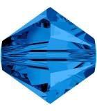 TUPI DE CRISTAL SWAROVSKI COLORES 8 mm 2 UNIDADES : color:Capri Blue