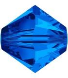 TUPI DE CRISTAL SWAROVSKI COLORES 8 mm 2 UNIDADES : color:Sapphire