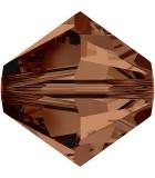 TUPI DE CRISTAL SWAROVSKI COLORES 8 mm 2 UNIDADES : color:Smoked Topaz