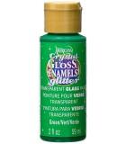 CRYSTAL GLOSS ENAMELS GLITTER DECOART 59 ML : GLOSS ENAMEL GLITTER:GG07 VERDE