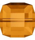 CUBO CRISTAL SWAROVSKI 6 mm. PRIMERA PARTE : Unidades:Envase 5 Unidades, color:Topacio
