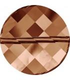 TWIST BEAD SWAROVSKI 18 MM 1 UNIDAD : color:Crystal Copper
