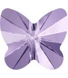 CUENTA MARIPOSA DE CRISTAL SWAROVSKI 8 MM : Unidades:Envase 5 Unidades, color:Violeta