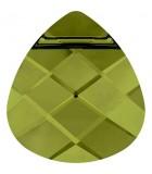 BRIOLETTE PLANO CRISTAL SWAROVSKI 11 x 10 mm : Unidades:Envase 5 Unidades, color:Olivine