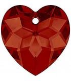 CORAZÓN FACETADO 6215 CRISTAL SWAROVSKI 18 MM : color:Crystal Red Magma