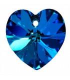 CORAZÓN SWAROVSKI 6228  DE 18 MM CON EFECTO : Unidades:1 unidad, color:Bermuda Blue