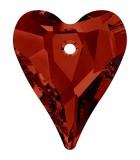 CORAZÓN WILD 6240 SWAROVSKI ELEMENTS 17x14x7 MM : color:Crystal Red Magma