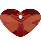 CORAZÓN CRAZY 4 U 6260 SWAROVSKI  27x20x16 mm 1 UD : color:Crystal Red Magma