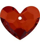 CORAZÓN 6264 TRULY IN LOVE SWAROVSKI 18x15x7 mm : color:Crystal Red Magma