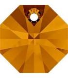 OCTÓGONO COLGANTE SWAROVSKI 12 MM 5 UNIDADES : color:Crystal Copper