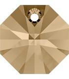 OCTÓGONO COLGANTE SWAROVSKI 12 MM 5 UNIDADES : color:Golden Shadow