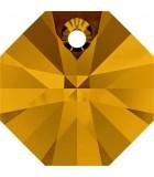 OCTÓGONO COLGANTE SWAROVSKI 12 MM 5 UNIDADES : color:Topacio