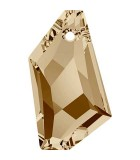 DE-ART PENDANT CRISTAL SWAROVSKI 50 MM : color:Golden Shadow