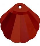 COLGANTE CONCHA DE CRISTAL SWAROVSKI DE 28 MM : color:Crystal Red Magma