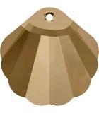 COLGANTE CONCHA DE CRISTAL SWAROVSKI DE 28 MM : color:Golden Shadow