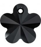 COLGANTE FLOR DE CRISTAL SWAROVSKI 12 MM : Unidades:Envase 5 Unidades, color:Jet (Negro)