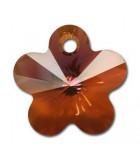 COLGANTE FLOR DE CRISTAL SWAROVSKI 18 MM 1 UD : color:Crystal Copper